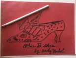 Original Andy Warhol shoe design