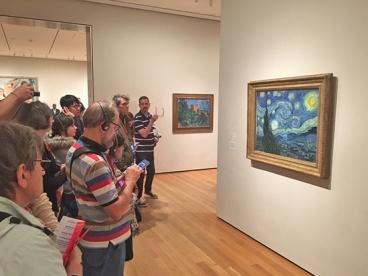 "Always a crowd around ""Starry Night."""