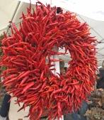 Hot pepper wreath.