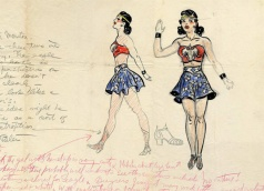 H. G. Peter's original illustration of Wonder Woman (c. 1941).