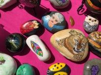 Liz Gibson's painted rocks.